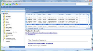 Image shows the main Pst Viewer Pro window, with email selected.