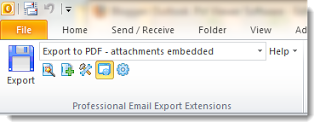 MessageExport Outlook toolbar