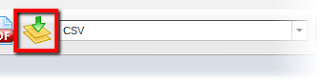 Picture shows the CSV export profile selected, and highlights the Start button.