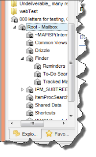 Image shows a ost file opened in Pst Viewer Pro, and the resulting folder structure.