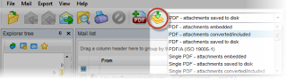 Using Pstviewer Pro to bulk combine .msg files int a single or individual .pdf files.
