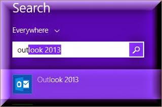 Microsoft Office Outlook in Windows 8