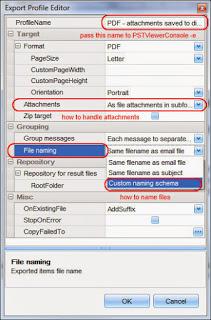 Edit the TIF profile export format.