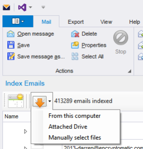 Screen image of MailDex 2018.